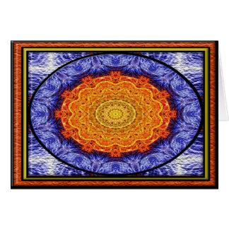 Fractal Flames Kaleidoscope No 5Greeting Card