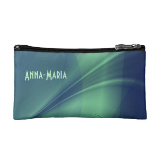 """Fractal """"Flash of Thought"""" Purse/Wristlet Cosmetic Bag"""