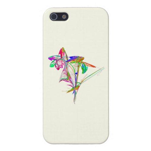 Fractal - flor y brote iPhone 5 cárcasas