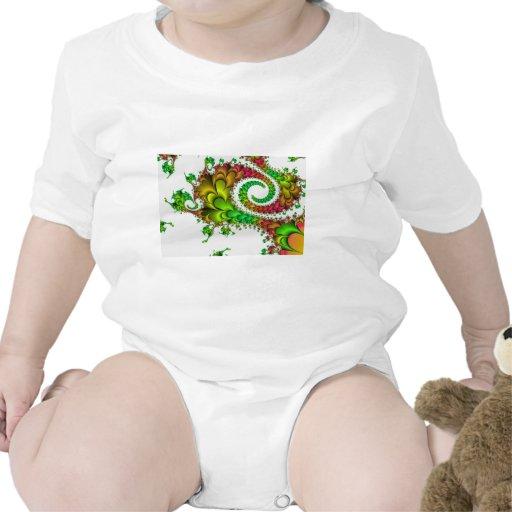 Fractal floral colorido camiseta