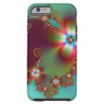Fractal floral de la fantasía funda de iPhone 6 tough