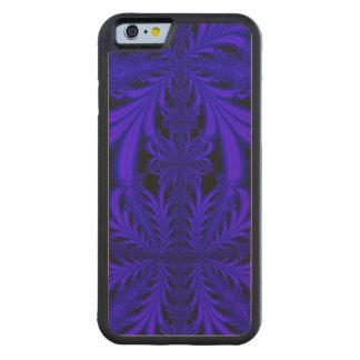 Fractal floral de la mirada azul del cordón funda de iPhone 6 bumper arce