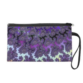Fractal Floral Fantasy Fashion Evening Wrist Bag