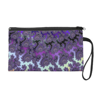 Fractal Floral Fantasy Fashion Evening Wrist Bag Wristlet Clutches