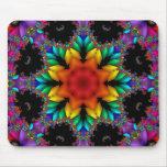 Fractal floral mouse pad