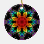 Fractal floral ornamento para arbol de navidad