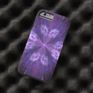 Fractal floral púrpura funda resistente iPhone 6