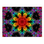 Fractal floral tarjetas postales