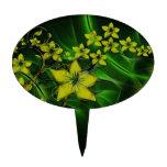 Fractal floral verde figuras de tarta