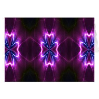Fractal Flower A Glow Go Card