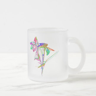 Fractal - Flower and Bud 10 Oz Frosted Glass Coffee Mug
