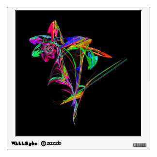 Fractal - Flower and Bud Wall Stickers