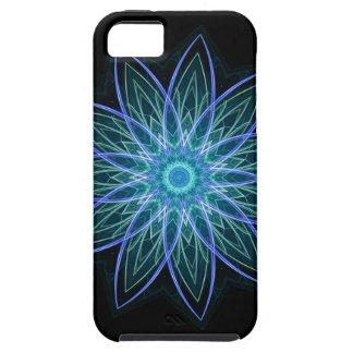 Fractal Flower Blue - Floral Mandala Star iPhone 5 Cases