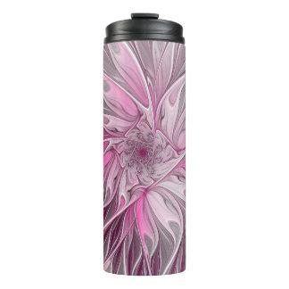 Fractal Flower Dream, floral Fantasy Pattern Thermal Tumbler