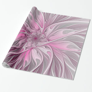 Fractal Flower Dream, floral Fantasy Pattern Wrapping Paper