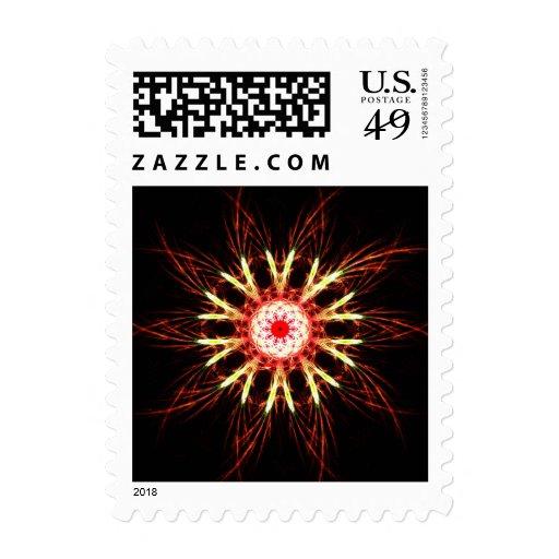 Fractal flower postage