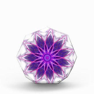 Fractal Flower Purple -geometric floral fractal Acrylic Award