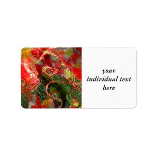 fractal flower (SF) Address Label
