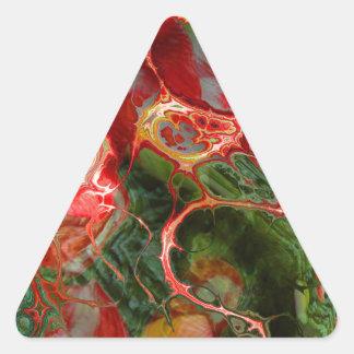 fractal flower (SF) Triangle Sticker