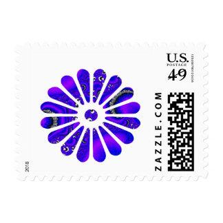 fractal,flower signal stamps
