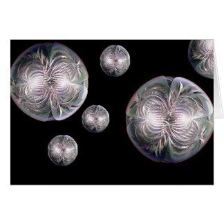 Fractal Flower Spheres Greeting Card