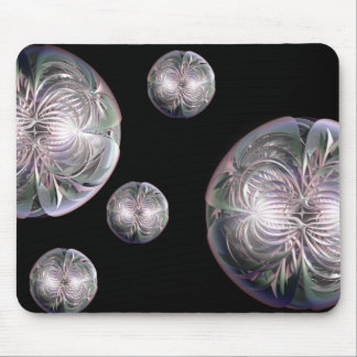 Fractal Flower Spheres Mouse Pad