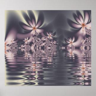 Fractal Flowers Clematis Lake Poster