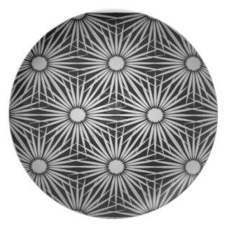Fractal flowers dinner plate