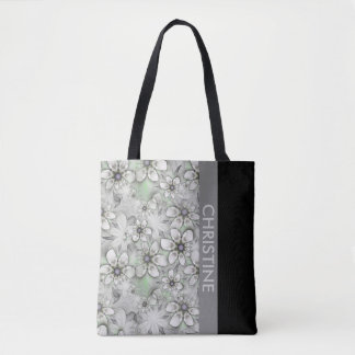 Fractal Flowers seamless pattern I + your ideas Tote Bag