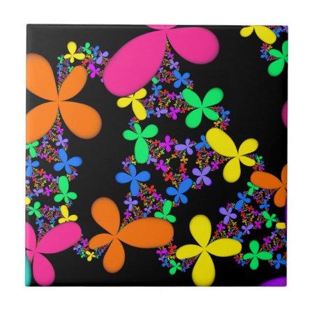 Fractal Flowers Tile
