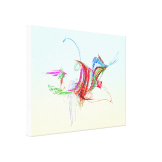 Fractal - Flying Bird Canvas Print