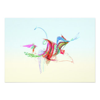 Fractal - Flying Bird Personalized Announcement