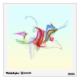 Fractal - Flying Bird Wall Stickers