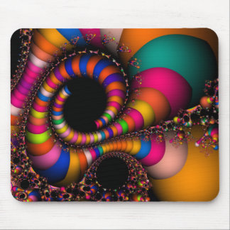 Fractal Flying Colors Mouse Pad