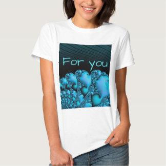 """fractal """"for you"""" aqua shirts"""