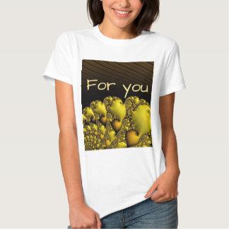 """fractal,""""for you"""",golden shirt"""