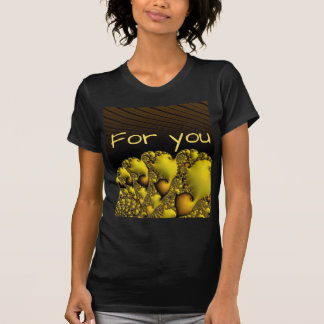 """fractal,""""for you"""",golden tshirt"""