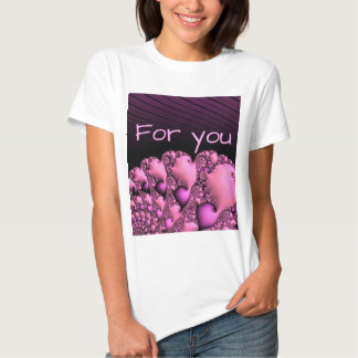 """fractal """"for you"""" soft tee shirts"""