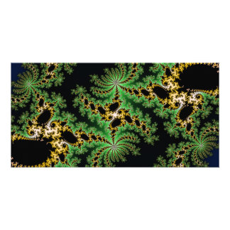 Fractal Forest - green, yellow and black Photo Card