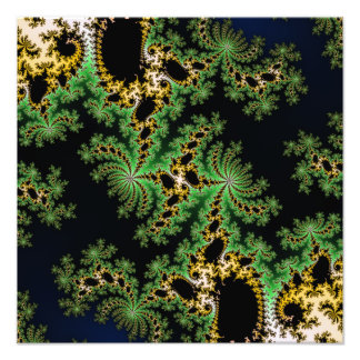 Fractal Forest - green, yellow and black Photo Art
