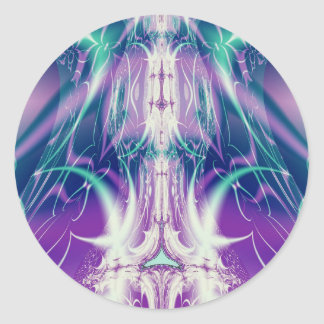 fractal frecuencia intermedia 193 pegatinas redondas