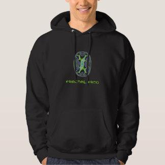 Fractal frog hooded pullover