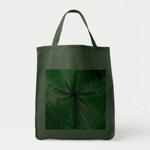 Fractal frondoso de la planta del bosque bolsa tela para la compra