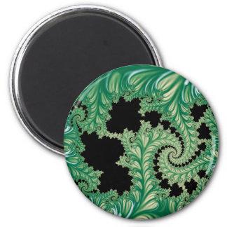 Fractal Fronds 2 Inch Round Magnet