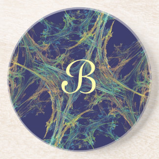 Fractal Frost Series-6---Blue Multi coaster--1 of Drink Coaster
