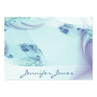 "Fractal ""Frozen Blue"" Large Business Card"