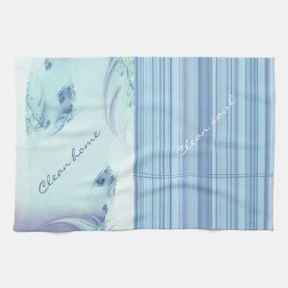 """Fractal """"Frozen Blue"""" Towels"""