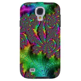 Fractal Funky Weaves Weaving Spiral Neon Rainbow Galaxy S4 Case