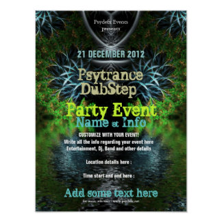 Fractal Garden Event Flyer Poster