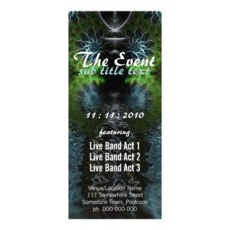 Fractal Garden Event Party Flyer Full Color Rack Card